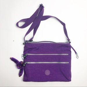 Kipling Alvar Handbag Crossbody Travel Purple